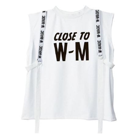 White Harness Message ノースリーブ/¥7,344