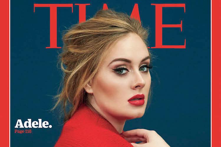 アデルがタイム誌のカバーに