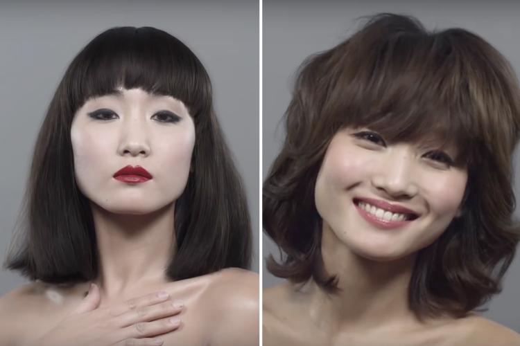 100年間の日本人女性の髪型