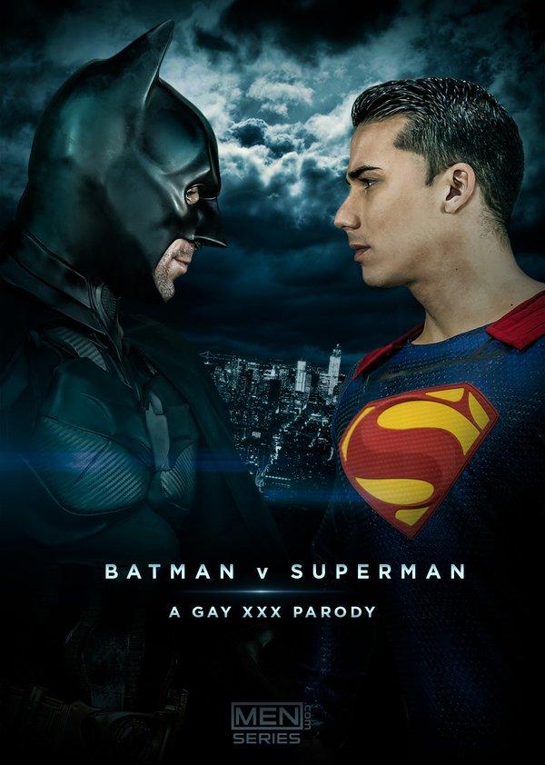 バットマンVSスーパーマンのポルノ版パロディー