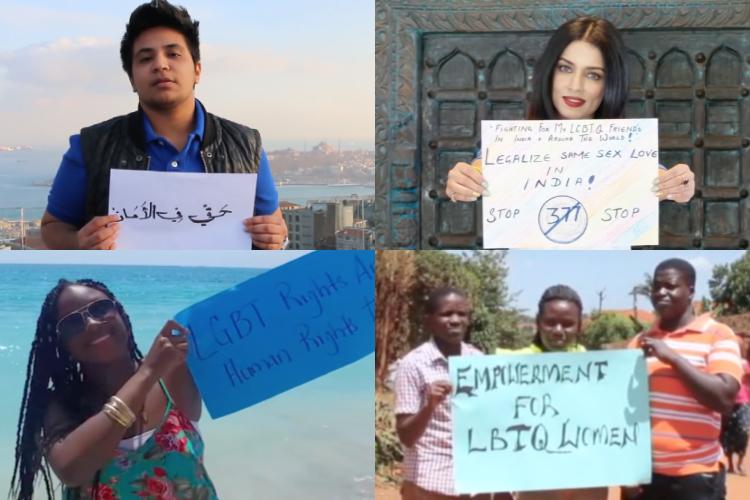 国連が世界中からLGBTIの人たちのメッセージを集めた動画を公開
