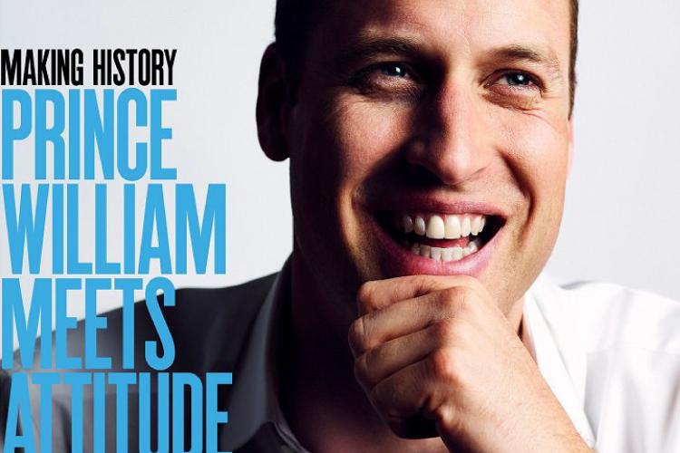 ウィリアム王子がゲイ雑誌に登場