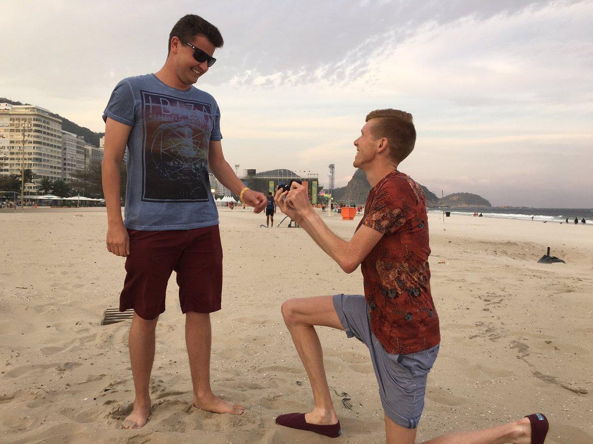リオでプロポーズ